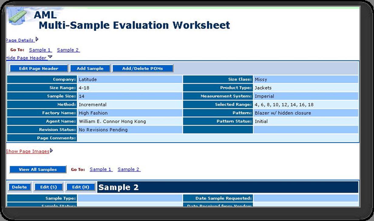 Multi-Sample Evaluation Worksheet